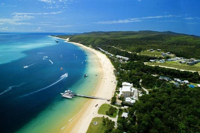 Tangalooma Island Resort Aerial