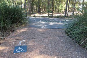 wheelchair accessible pathway narangba