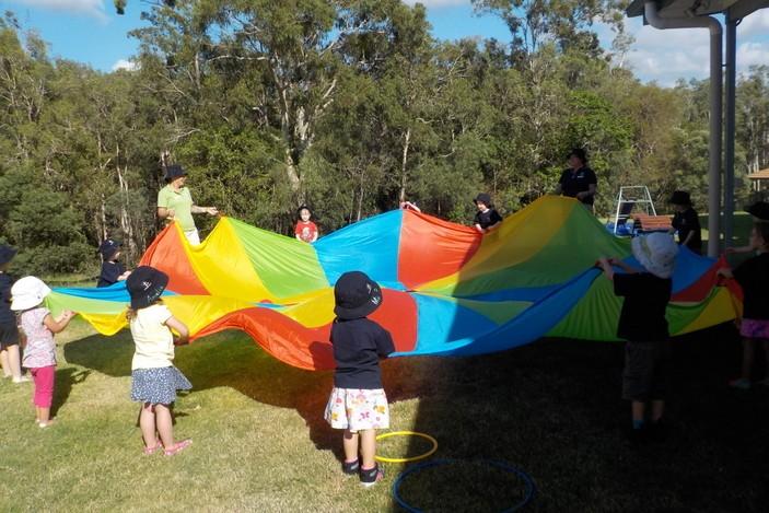 Living Faith Lutheran Kindy parachute