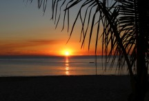 Sunset over Moreton Bay