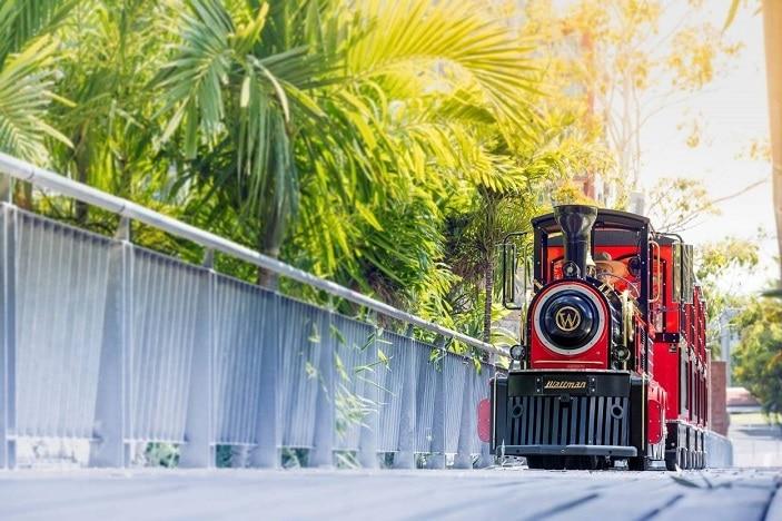 Parks Alive Roma Street Parkland Train, land train, train ride in the park