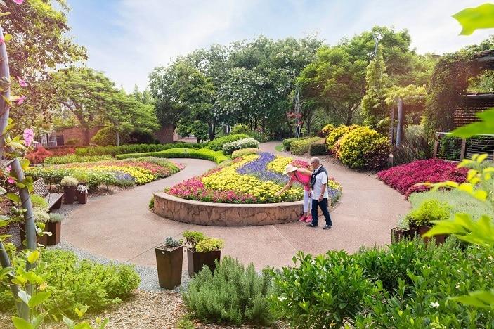 Parks Alive Roma Street Parkland gardens, flowers, trees, parkland