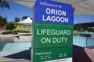 lifeguard sign orion lagoon