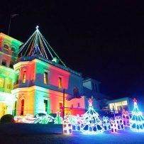 christmas lights at government house