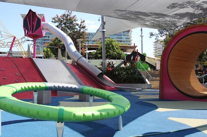 riverside green slippery slide