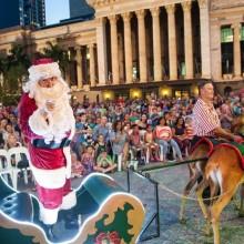 Brisbane City Christmas Santa adn Sleigh