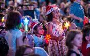 Brisbane Marketing Christmas in Brisbane Carols, kids enjoying the carols