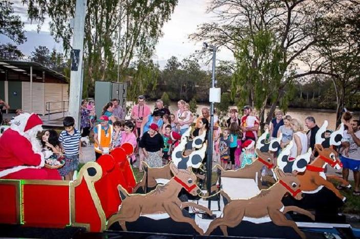 Santa Sleigh centenary suburbs