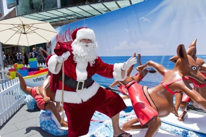 santa Christmas Surfers Paradise