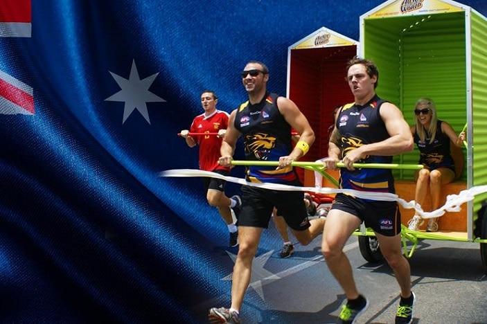 Australia Day Dunny Races Aussie World