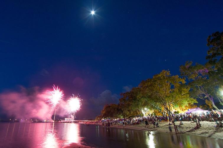 Australia Day fireworks Bribie Island