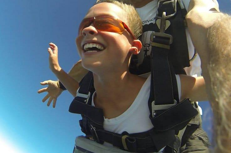 Kids skydiving in Brisbane