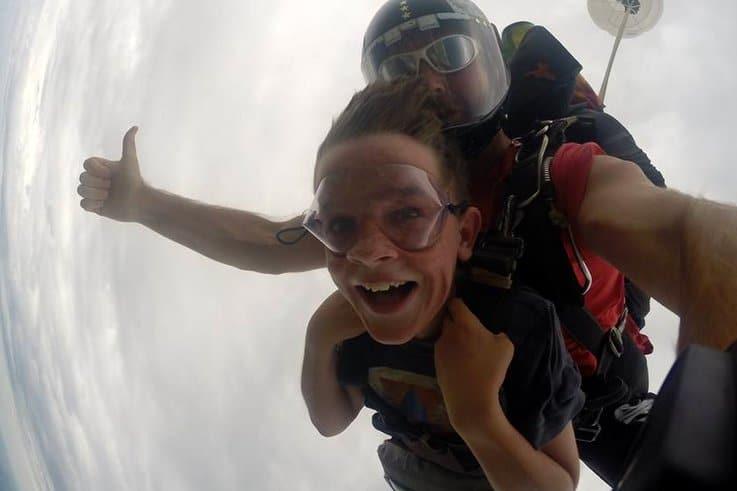kids skydiving Brisbane
