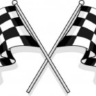 checkered flag car racing