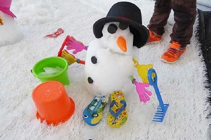snow man, snow 4 kids, winter fun in brisbane