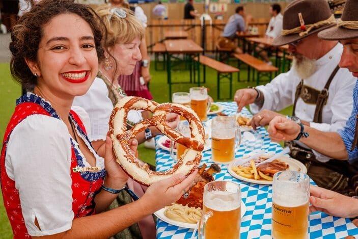 Oktoberfest Brisbane pretzel