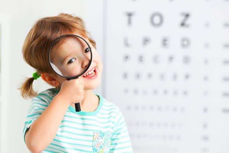 Prep students vision testing Brisbane