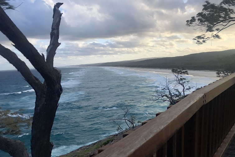 view from the north gorge stradbroke island