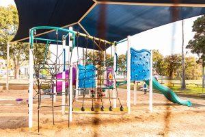 colouring climbing playground, les atkinson playground