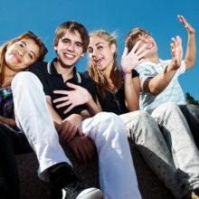 Teens, friends