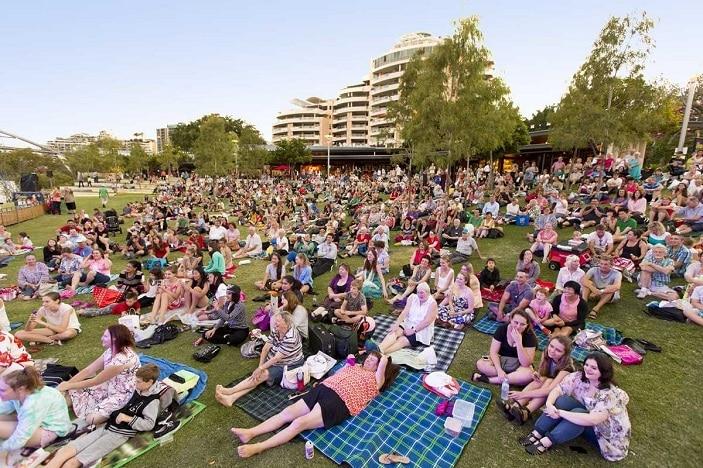 Australia day south bank picnic, Australia Day crowds at South Bank