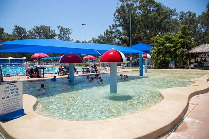 Mushroom wading pool at Yeronga Park Memorial Pool