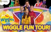 The Wiggles Fun Tour, the wiggles, dorothy the dinosaur, captain feathersword, octopus, yellow wiggle, blue wiggle, red wiggle, pruple wiggle, anthony, lachie, emma