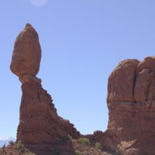Arches National Park from Moab