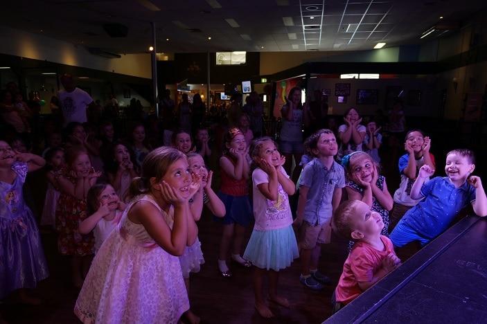 kids having fun at disco