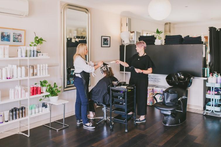 Staff at Lavelle Hair salon
