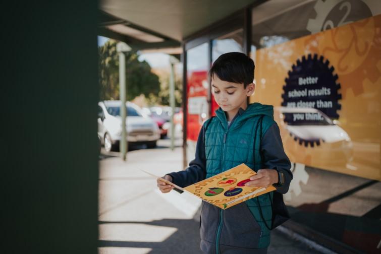 Boy standing outside NumberWorks'nWords