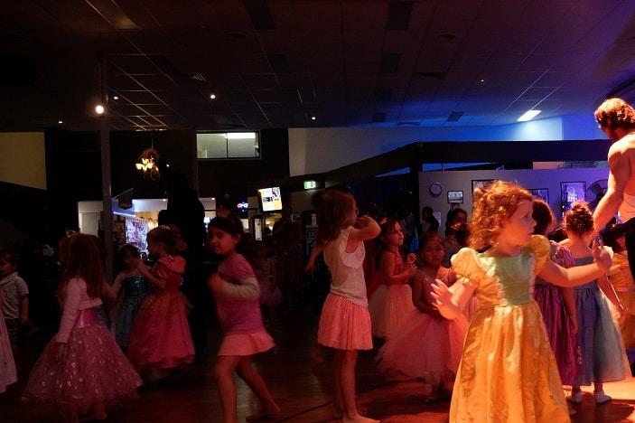 kids having fun and dancing