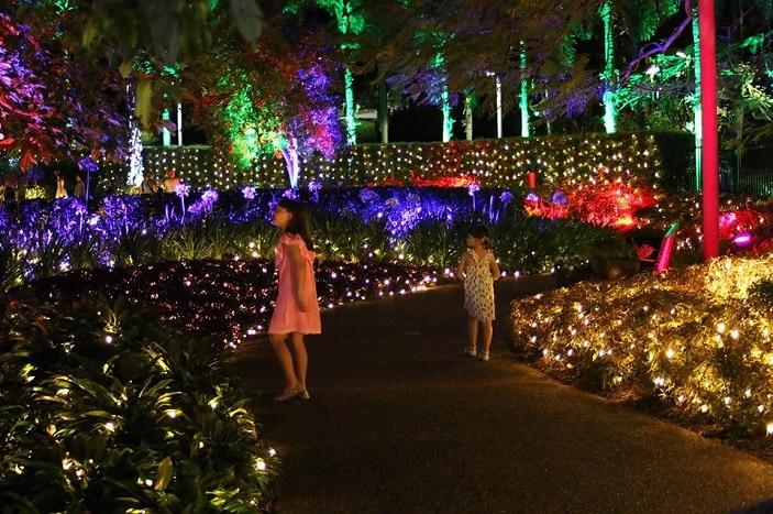 enchanted garden kids wander through Roma Street Parkland