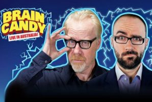 Adam Savage and Michael Stevens in Brain Candy Live Brisbane