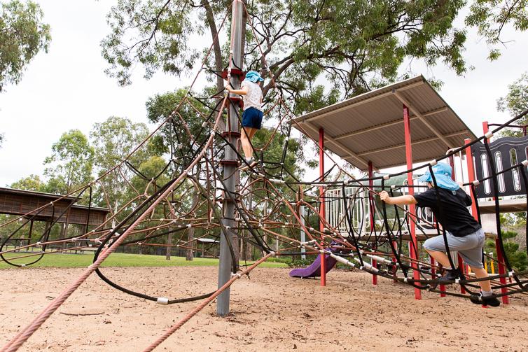 Teviot Park climbing ropes