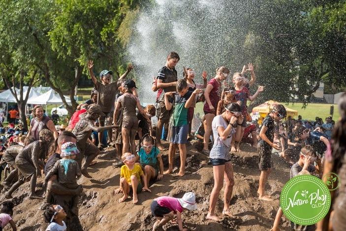 Mud World Mud Mountain, kids playing in mud