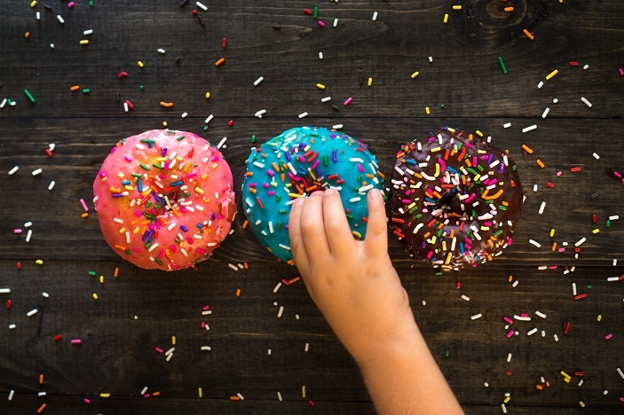 cafes with play areas and donuts