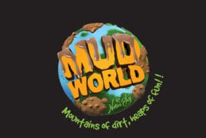 Mud World Festival, logo, world globe, mud