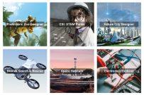 Images of STEM workshops for kids with titles