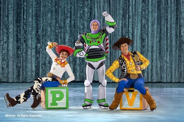 Woody, Buzz Lightyear and Jessie Toy Story Disney on ice celebrates mickey and friends