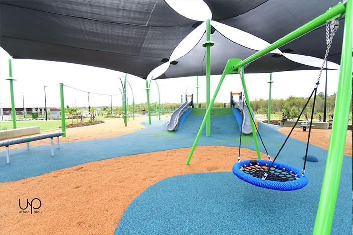 circular swing and slides