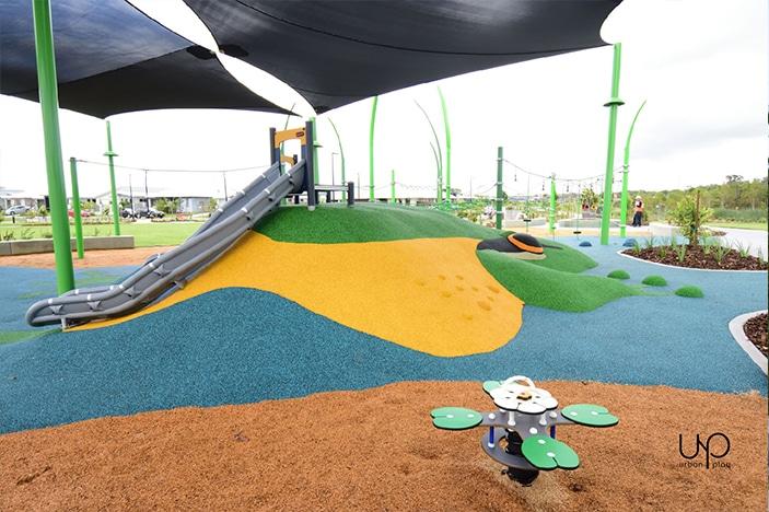 slides and parkour equipment