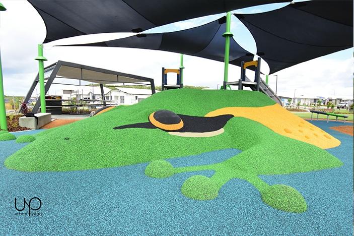 Aura Frog Park Side view of frog mound