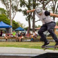 skateboarder doing a jump