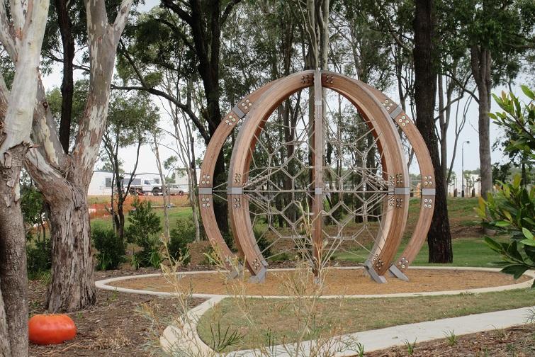 bray park playground climbing net