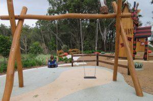 swing set in bray farm park.