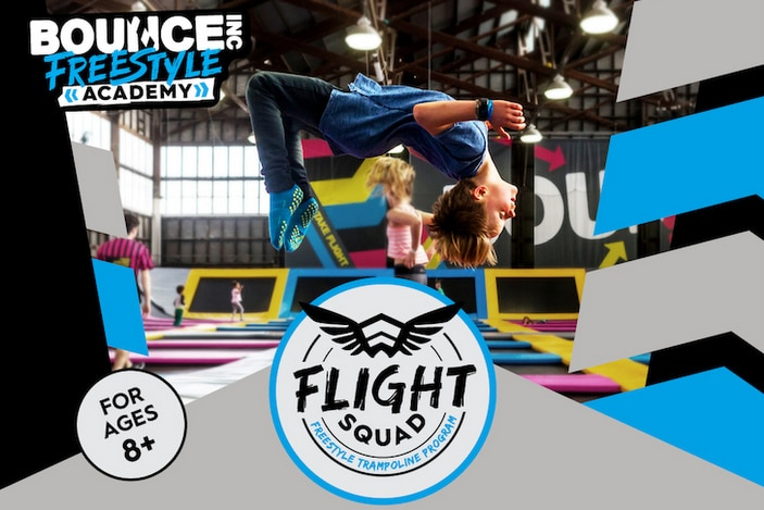 Bounce trampoline park, kids classes