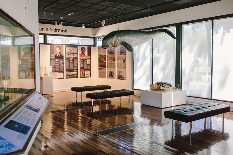 displays at Bribie Island Seaside Museum