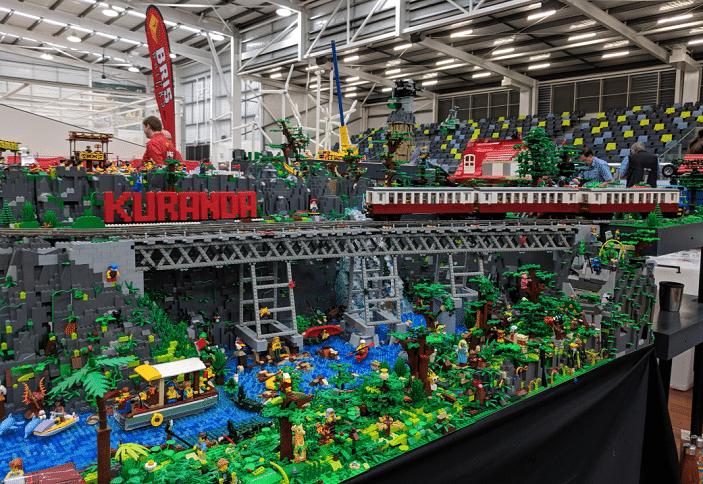 kuranda rail lego dispay brisbricks