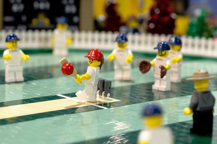 lego display cricket game